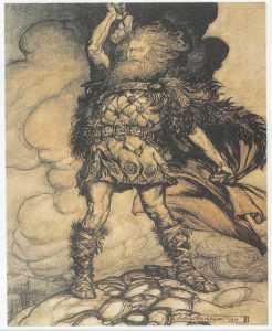 В скандинавской мифологии тор бог грома