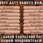Древнеславянский гороскоп: кто из языческих богов наделил вас силой?     Golbis